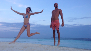 Jump for Joy! Sandbanks near Maafushi Island
